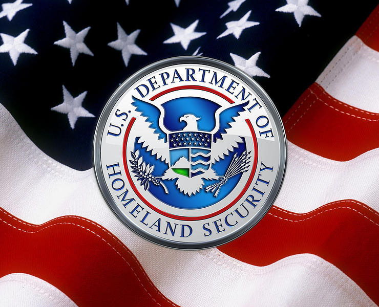 Official sign of the Homeland Security